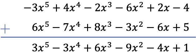ejercicio resuelto paso a paso de sumas de polinomios